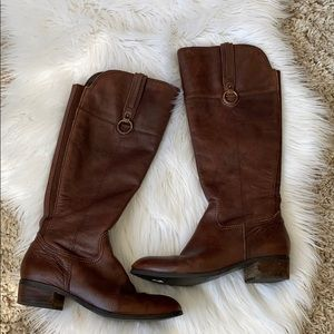 Crown vintage brown leather riding style boots